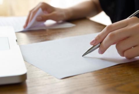 kartka idługopis