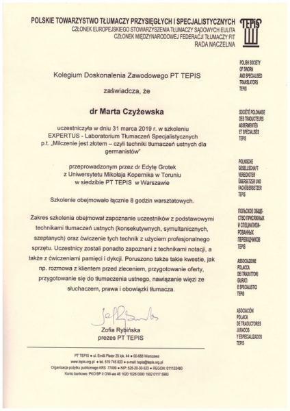 certyfikat 13