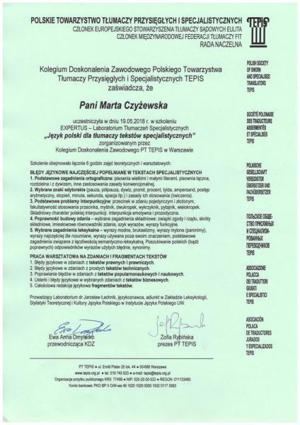 certyfikat 10